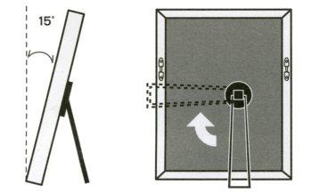 取付時のフレームの傾きが、15度程度になるようにプレートの位置を決めます。