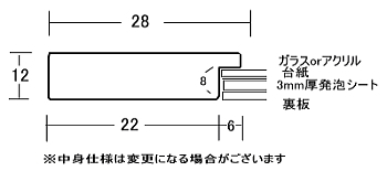 断面図 数字の単位はmmです。