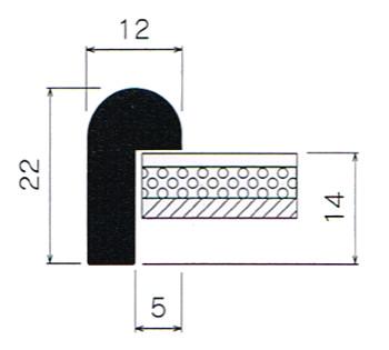 断面図(BH-215J) 数字の単位はmmです。