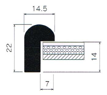 断面図(BL-225J) 数字の単位はmmです。<br />大サイズはBL-225Jとなります。