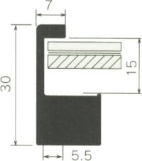 断面図(SL-202N) 数字の単位はmmです。<br />大サイズはSL-202Nとなります。