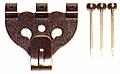木壁、石膏ボード用鉄並Xフック・3本針